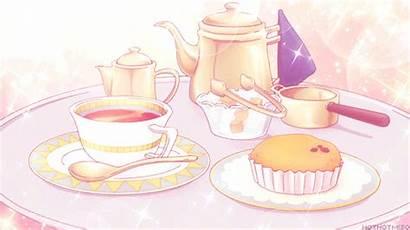 Anime Cake Tea Aikatsu Cartoon Sweet Animated