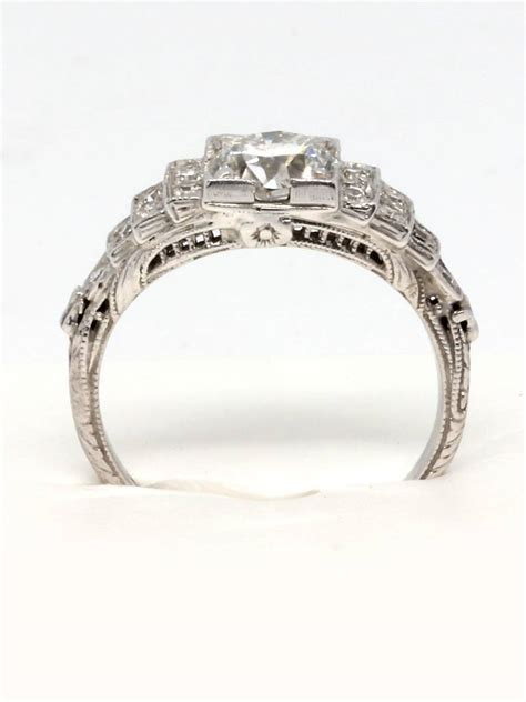 1920s deco engagement rings 1920s deco platinum and engagement ring at 1stdibs