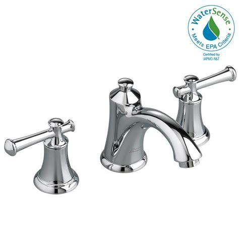 american standard monterrey 8 in widespread 2 handle bathroom faucet in polished chrome with