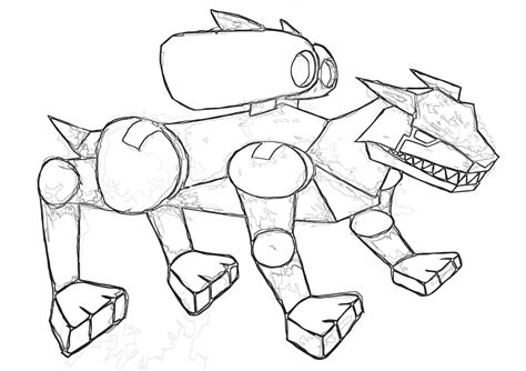 robot dog coloring pages coloring pages