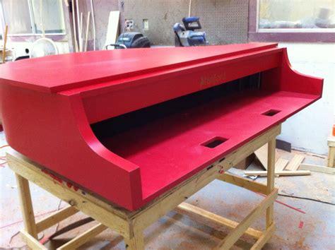 red laminate mini piano shell piano   yamaha