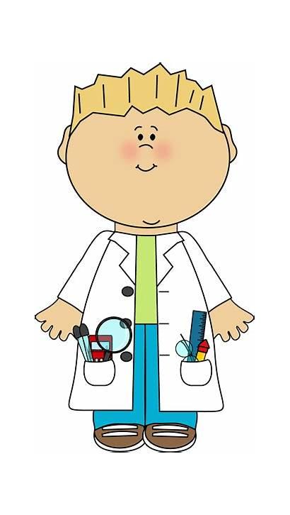 Scientist Clipart Clip Boy Kid Science Lab