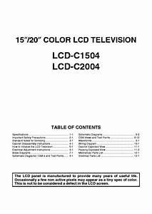 Funai Lcd C1504 Lcd C2004 Tv Service Manual