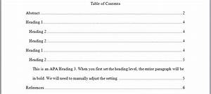 perrla knowledge base perrlacom With table of contents apa style template