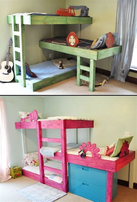 cool beds for kid 31 cool and practical bunk beds for more than two kids digsdigs