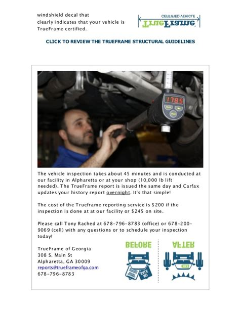 accident history update carfax   trueframe report today