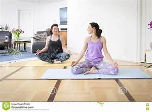 Yoga At Home : two women doing yoga at home stock image image 70285225 ~ Orissabook.com Haus und Dekorationen