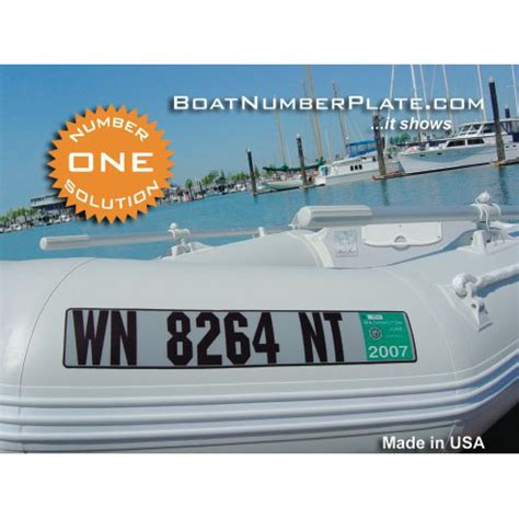 Fishing Boat Registration Codes by Lake Martin Store Boatnumberplate Registration Plate