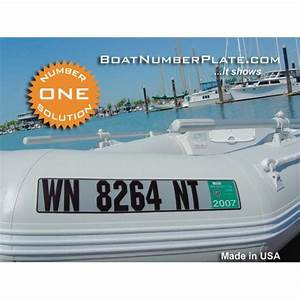 lake martin store boatnumberplate registration plate With inflatable boat lettering and number kits
