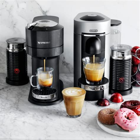 With a sleek new design made from 54% recycled plastics and stylish chrome accents, vertuo next will fit any kitchen and to go the extra mile, even connects to wifi and bluetooth to ensure its software. Nespresso Vertuo Next Premium by Breville | Espresso Machine | Williams Sonoma