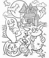 Haunted Coloring Halloween Pages Crayola Cute Colouring Sheets Adults Printable Scary Witch Getcoloringpages Hundertwasser Adult Printables Template Fall Fun Visit sketch template