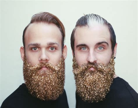 glitter beard    holiday trend   grown men