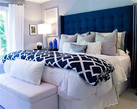 Bedroom Decorating Ideas Upholstered Bed by Beautiful Bedroom Featuring Tufted Wingback Headboard In