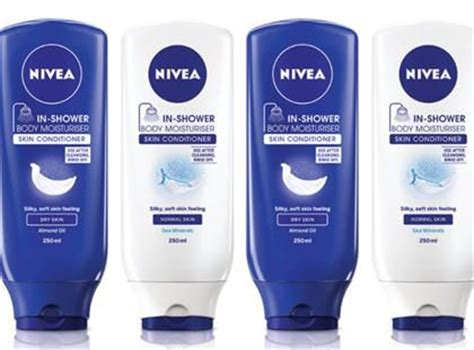 nivea in shower nivea in shower moisturiser skin conditioner