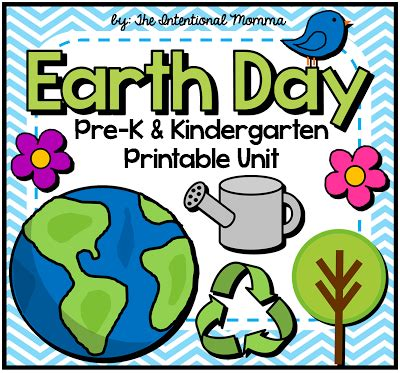 38 page earth day unit for pre k and kindergarten