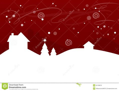 simple winterchristmas landscape royalty  stock