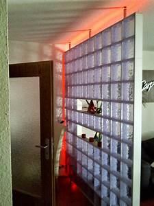 Holzbalken Als Raumteiler : x block glass like ausf hrung in transparent mit led lichtband einsatzbereich als ~ Sanjose-hotels-ca.com Haus und Dekorationen