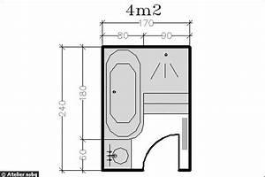 Plan Salle De Bain 4m2 : 15 plans pour une petite salle de bains photo deco ~ Nature-et-papiers.com Idées de Décoration