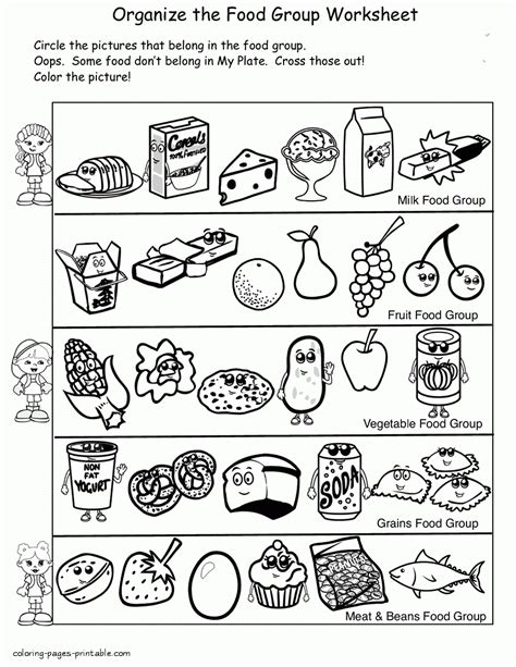 cuisine color sour bitter salty food items coloring pages sour
