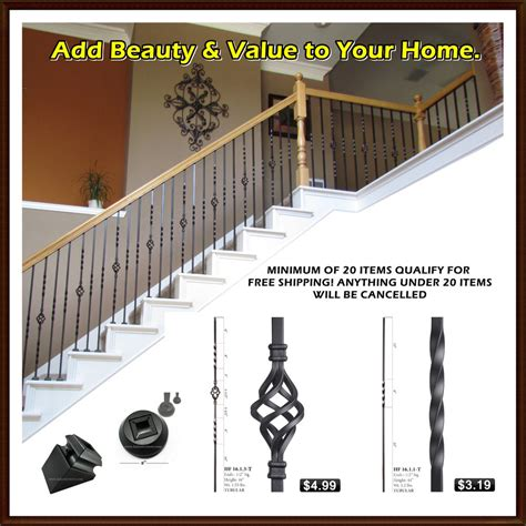 Banister Railing Parts by Iron Balusters Iron Stair Parts Stair Railing Metal
