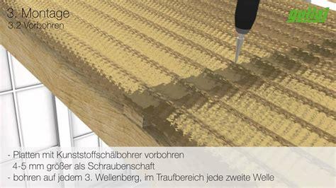 guttagliss acryl sz profilplatten verlegung mit schrauben