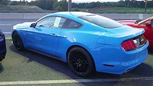 2017 Grabber blue Ford Mustang with Performance Package for sale in Dillsburg Pennsylvania - YouTube