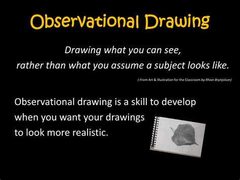observational drawing powerpoint  id