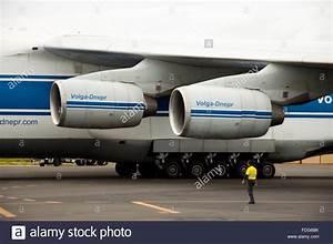 Russian Volga-Dnepr Antonov (AN-124) cargo airplane Stock ...