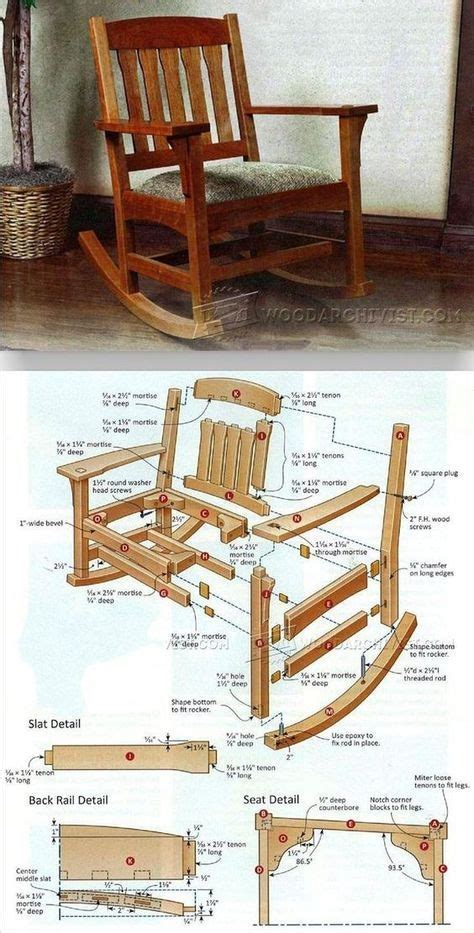 arts crafts rocking chair plan furniture plans  projects woodarchivistcom dadadadaaa