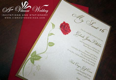 Sweet 16 Birthday Invitation Beauty & The Beast Theme