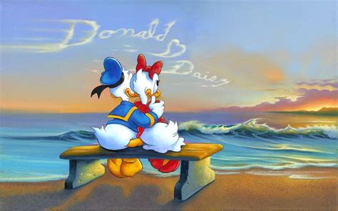 donald duck  daisy suset message   clouds romantic