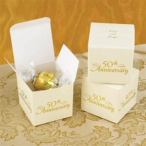 personalized 50th anniversary favor boxes set of 25 With 50 wedding anniversary party favors