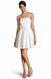 donna morgan strapless fit flare dress wedding fashion With donna morgan wedding dress