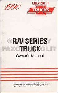 1990 Chevy Truck Repair Shop Manual Original Pickup Blazer