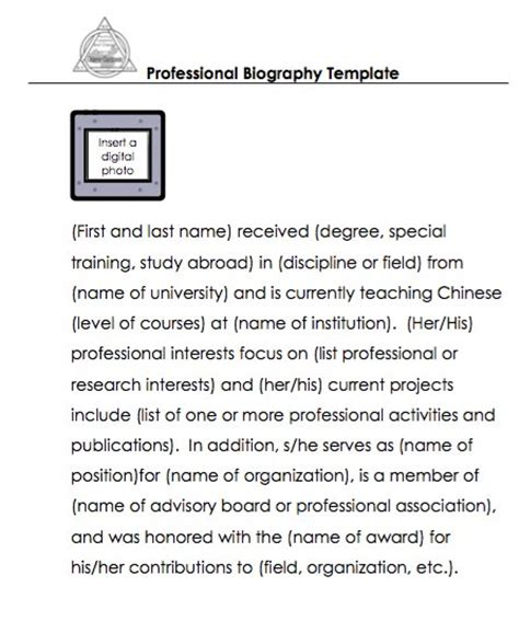 professional biography template 45 free biography templates exles personal professional free template downloads