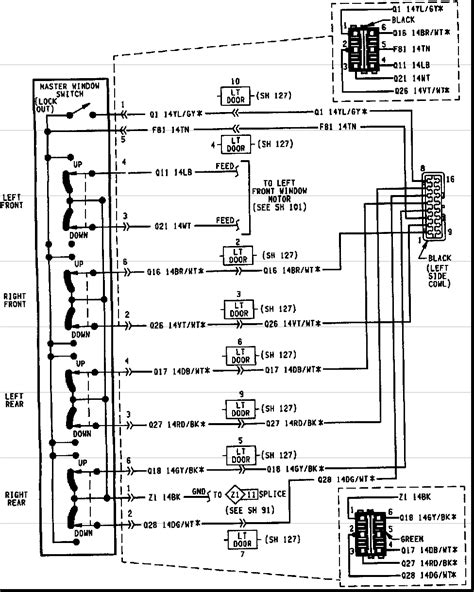 jeep grand cherokee power window wiring diagram wiring