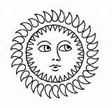 Sun Coloring Drawing Printable Sunny Face Moon Sheet Sunset Ocean Sheets Getcolorings Getdrawings sketch template