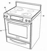 Oven Coloring Template Drawing Convection Sketch Microwave Patent Patents sketch template