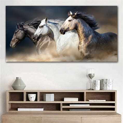 running horse animal poster pictures  living room