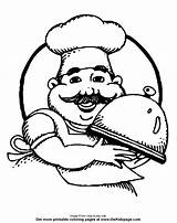 Chef Coloring Pages Colouring Printable Sheets Cooking Cook Getcoloringpages Christmas Male sketch template
