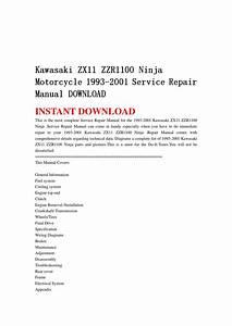 Kawasaki Zx11 Zzr1100 Ninja Motorcycle 1993 2001 Service