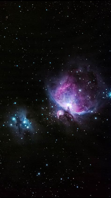 blue  pink nebula shiny  outer space cosmos outer