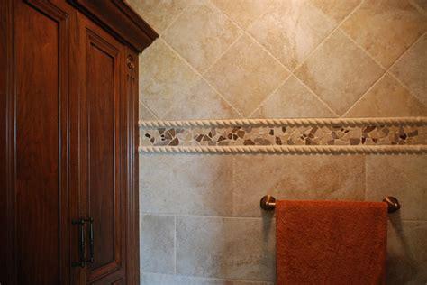 mosaic tile trim contemporary bathroom cleveland  architectural justice