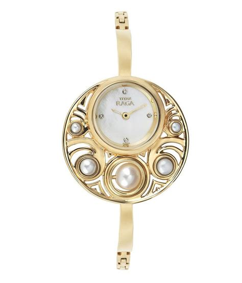 titan gold plated womens watch 9972ym01 price in india