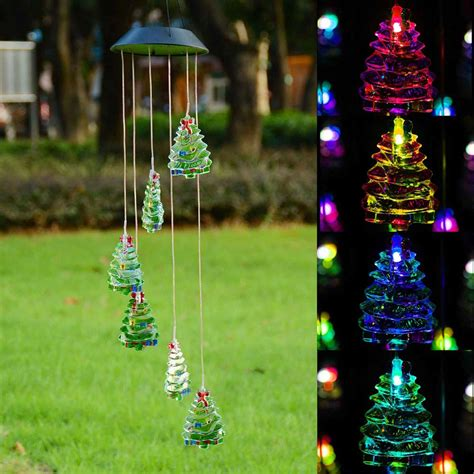 Solar Power Garden Decoration L by Solar Power Color Changing Led Wind Chimes Light Yard Home