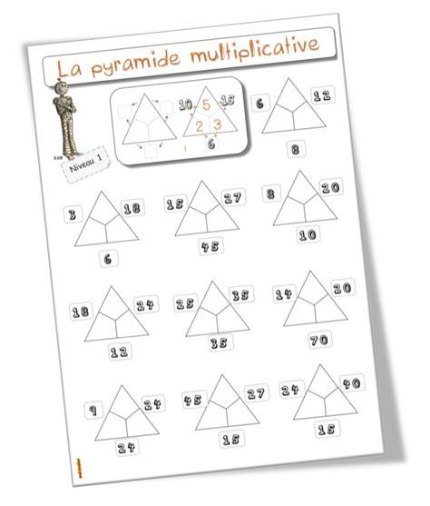 la pyramide des multiplications fiches 233 l 232 ves multiplication 201 cole et math 233 matiques