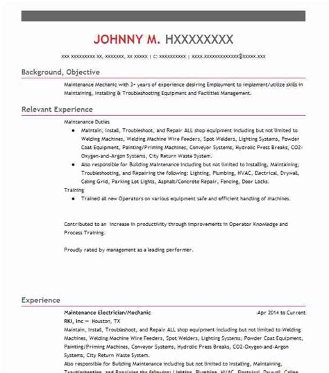 Electrician Apprentice Resume Sle by Apprentice Electrician Objectives Resume Objective