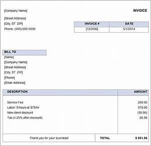 16 free basic invoice templates With simple invoice free