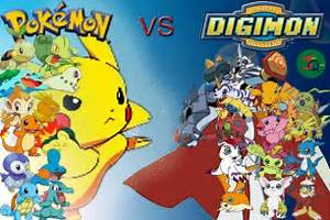 pokemon versus digimon photo