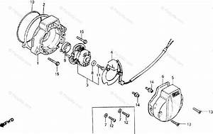 Honda Motorcycle 1982 Oem Parts Diagram For C D I  Pulser
